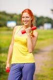 Woman exercising portrait Stock Photo