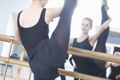Woman Exercising Splits Stretching Royalty Free Stock Image