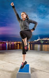 Woman exercising on steeper Royalty Free Stock Images