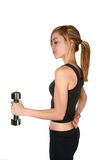 Woman exercising with weight Royalty Free Stock Photography