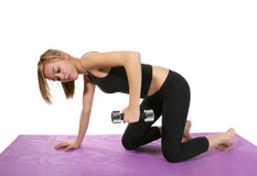 Woman exercising with weights Stock Image