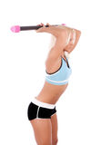 Woman Exercising With Fit Bar Royalty Free Stock Photo