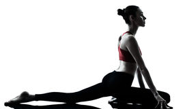 Woman exercising yoga Stock Photography