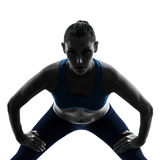 Woman exercising yoga Royalty Free Stock Photography