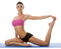 Woman exercising yoga Royalty Free Stock Image