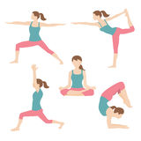 Woman exercising yoga. Vector illustration of woman exercising yoga Royalty Free Illustration
