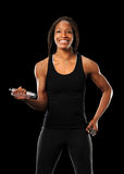 Woman Exersicing With Dumbbells Stock Photography