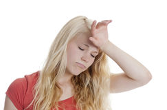 Woman is exhausted Stock Image