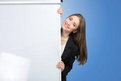 Woman explain at the whiteboard Stock Photos