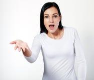 Woman explaining something Stock Photos