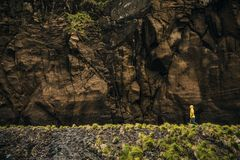 Walking down the cliff Royalty Free Stock Photography