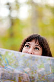 Woman exploring outdoors Royalty Free Stock Images