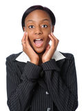 Woman Expresing Surprise Stock Photography