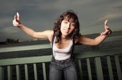 Woman expressing attitude Stock Photo