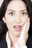 Woman expressing shock Stock Photo