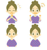 Woman expressions 02. Woman expressions, happy, angry, sad face,  file Royalty Free Stock Photos