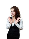 Woman expressive saying Royalty Free Stock Photo
