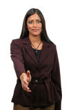 Woman Extending Hand Royalty Free Stock Photos