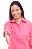 Woman extending handshake Royalty Free Stock Photo