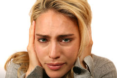 Woman Extremely Stressed Out Royalty Free Stock Photo