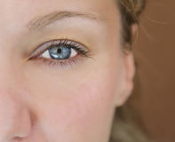 Woman'eye. Image stock
