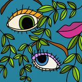 Woman with an eye. Abstract illustration of a woman with an eye Stock Images