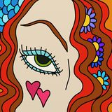 Woman with an eye. Abstract illustration of a woman with an eye Stock Image