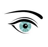 Woman eye. Beautiful blue woman eye. Vector illustration Stock Photography