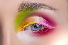 Woman eye with beautiful makeup Royalty Free Stock Image