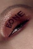 Woman eye with beautiful makeup Stock Photos