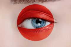 Woman eye with beautiful makeup Royalty Free Stock Image