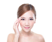 Woman eye care concept Royalty Free Stock Image
