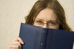 Woman/ Eye Glasses Stock Photo