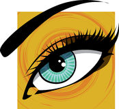 Woman eye illustration. Royalty Free Stock Images