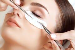 Woman Eye with Long Eyelashes. Eyelash Extension Royalty Free Stock Image
