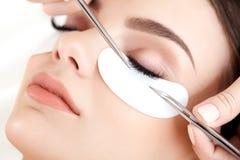Woman Eye with Long Eyelashes. Eyelash Extension Stock Photography