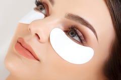 Woman Eye with Long Eyelashes. Eyelash Extension Royalty Free Stock Photo