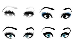 Woman Eye Set Stock Images