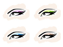 Woman Eye Set Royalty Free Stock Photography
