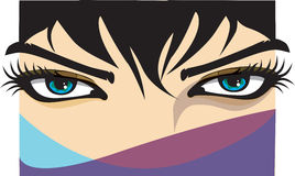 Woman eye. Vector illustration. Closeup of a woman eye. Vector illustration Royalty Free Stock Image