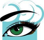 Woman eye. Vector illustration. Closeup of a woman eye. Vector illustration Stock Images