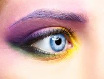 Woman eye zone make up Stock Image