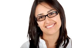 Woman with eyeglasses Stock Images