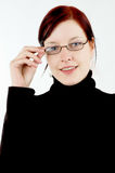 Woman with eyeglasses Stock Photos