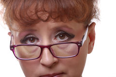Woman in eyeglasses Stock Photography