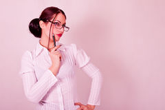 Woman with eyeglasses Royalty Free Stock Photography