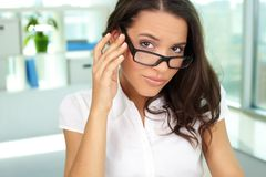Woman in eyeglasses Royalty Free Stock Photography