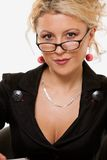Woman in eyeglasses Stock Photo
