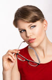 Woman in eyeglasses Royalty Free Stock Images
