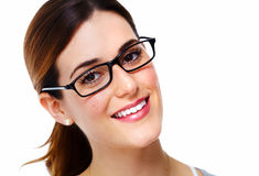 Woman with eyeglasses. Stock Photos